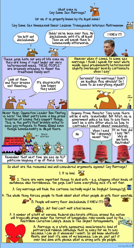First Dog on the Moon - The reasoned, considered arguments against same-sex marriage