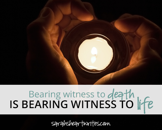 Bearing witness to death
