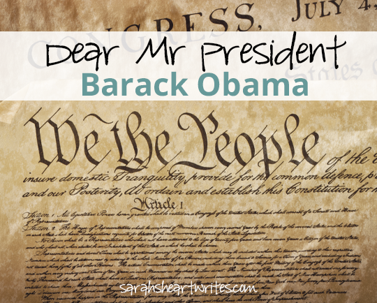 Dear Mr President Barack Obama